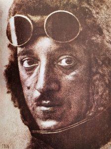 Портрет на летецът Симеон Петров